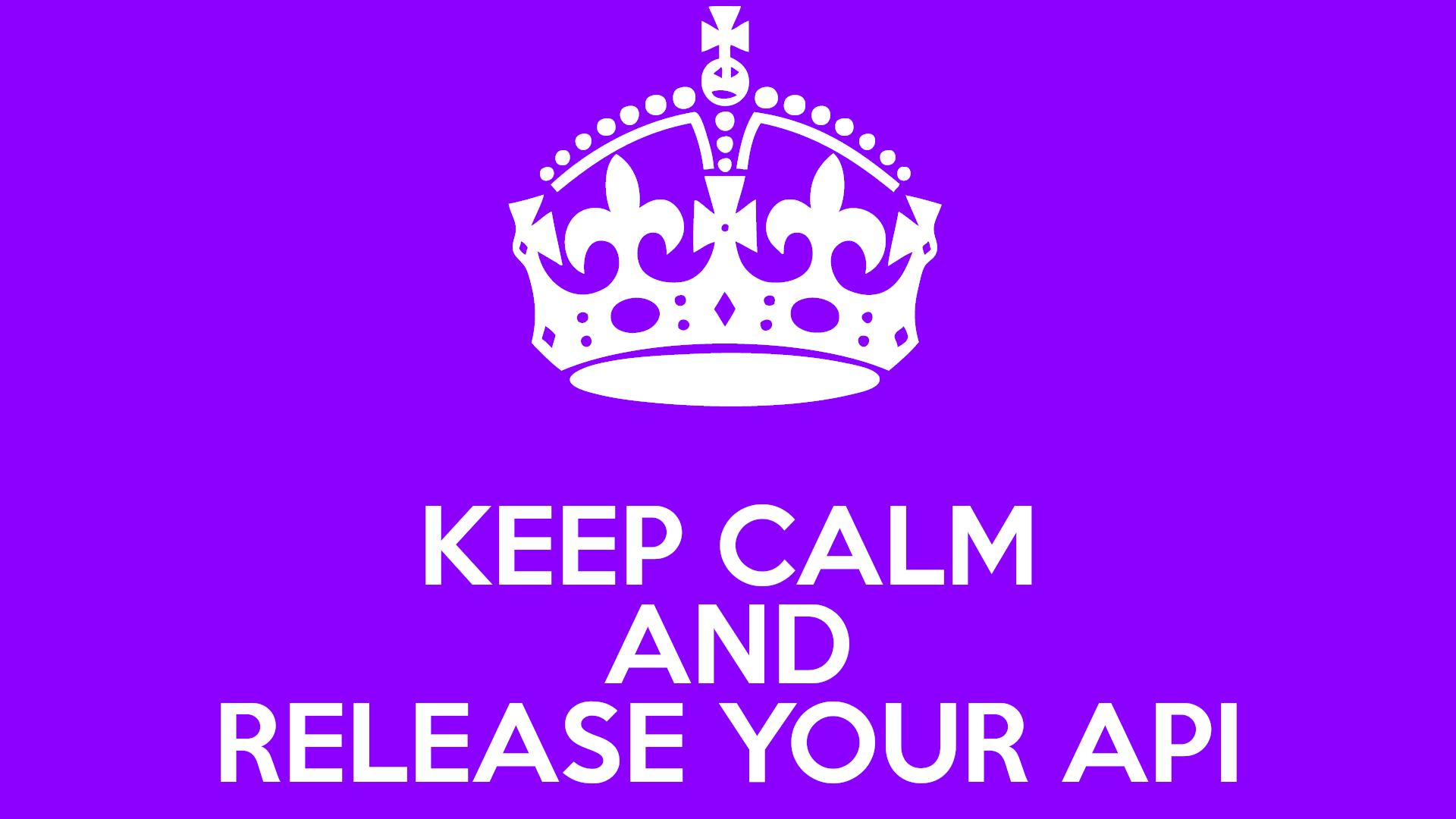 Keep calm and release your API in prod